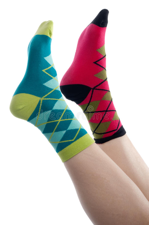 Free Vertical Image Brightly Colored Socks Royalty Free Stock Image - 11938846