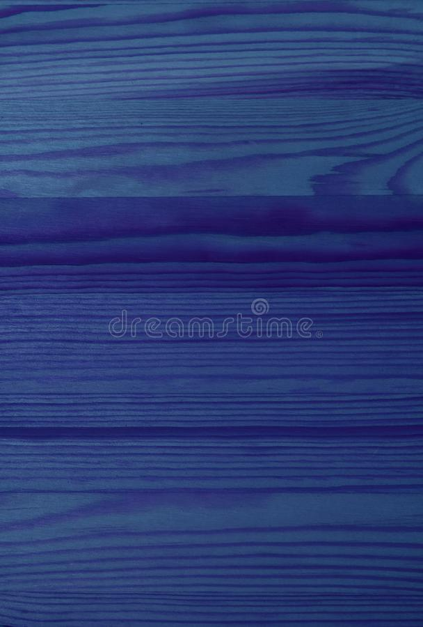 Vertical Image of Horizontal Pattern of Deep Blue Colored Wood Plank Surface stock photo