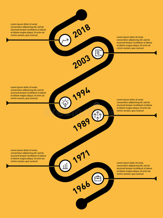 Vertical Infographic timeline. Business concept with options, pa. Rts, steps or technology processes. Time line of Social tendencies and trends graph. Vector web stock illustration