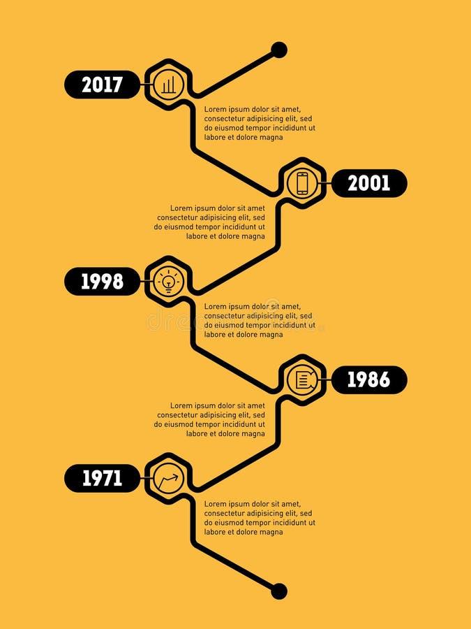 Vertical Infographic timeline. Vector web template. Time line of vector illustration