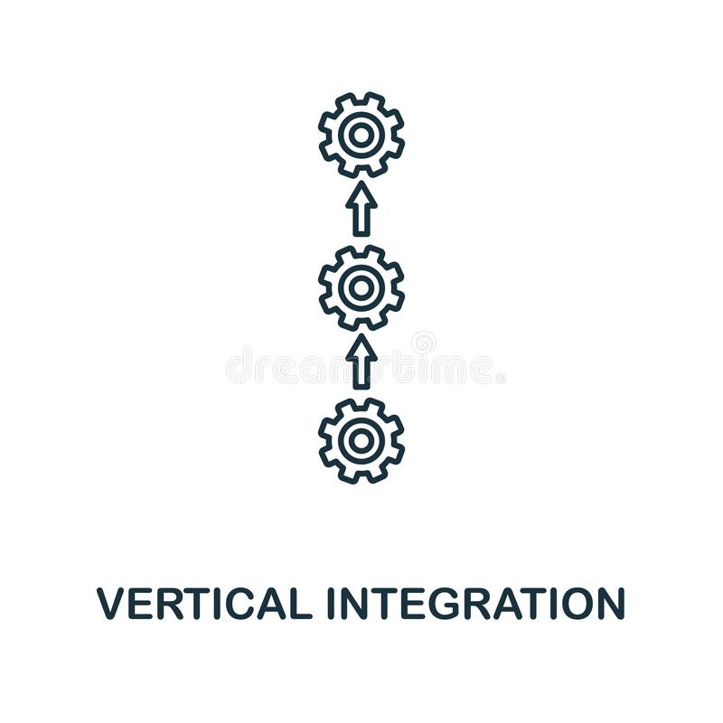 Vertical Integration icon. Thin line style industry 4.0 icons collection. UI and UX. Pixel perfect vertical integration royalty free illustration