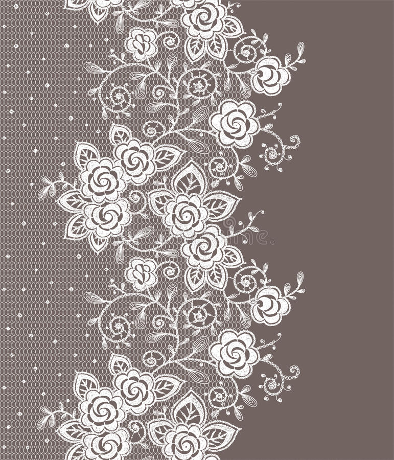 Vertical Lace Seamless Pattern. royalty free illustration