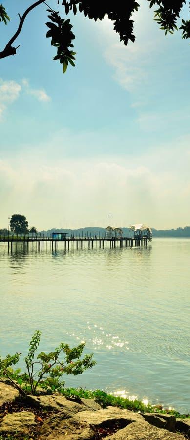 Vertical Lake Panorama royalty free stock photo