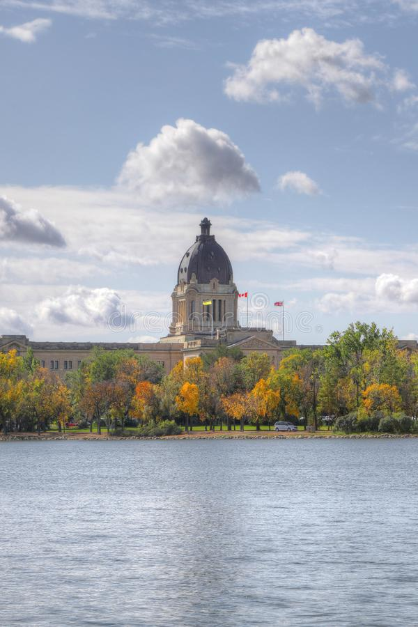Vertical of Legislature Building in Regina, Saskatchewan stock photos
