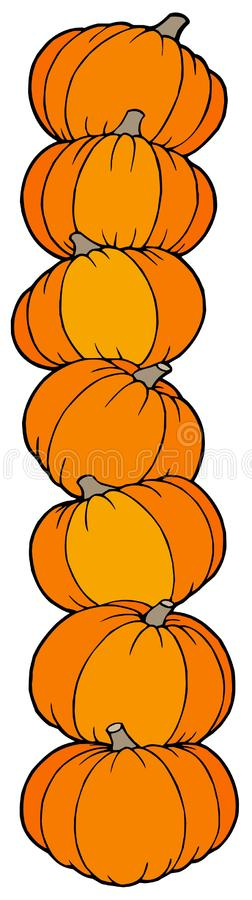 Download Vertical line of pumpkins stock vector. Image of orange - 10228507