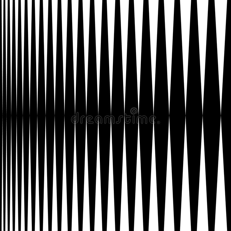 Vertical lines, stripes - Parallel straight lines from thick to royalty free illustration
