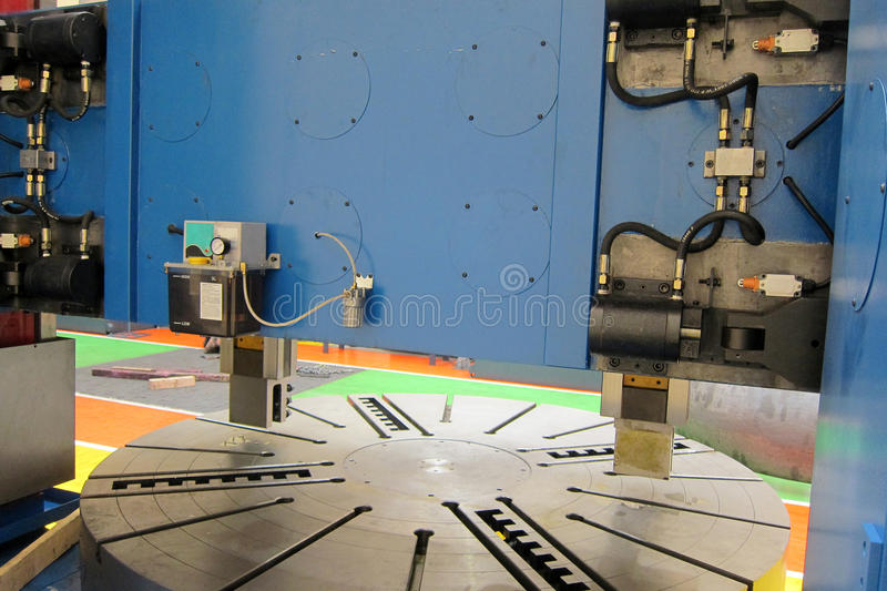 Vertical machine lathe royalty free stock images