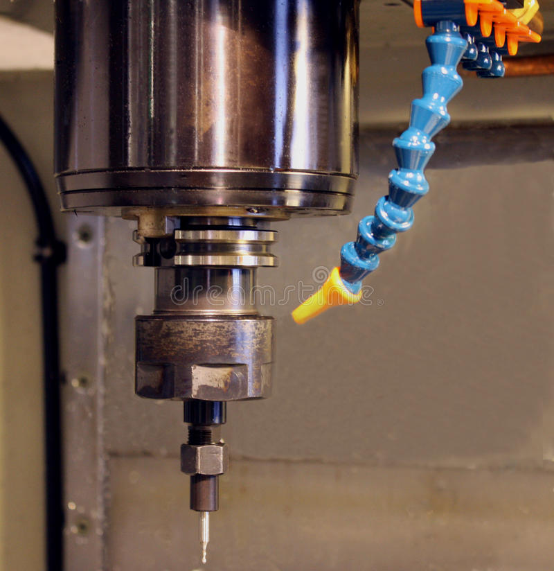 Vertical milling machine royalty free stock photo