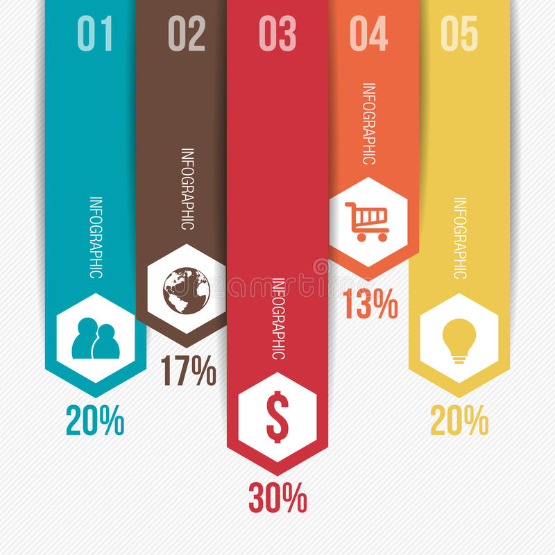 Vertical Modern Infographic Template. Vertical Modern Infographic Web Banner Template royalty free illustration