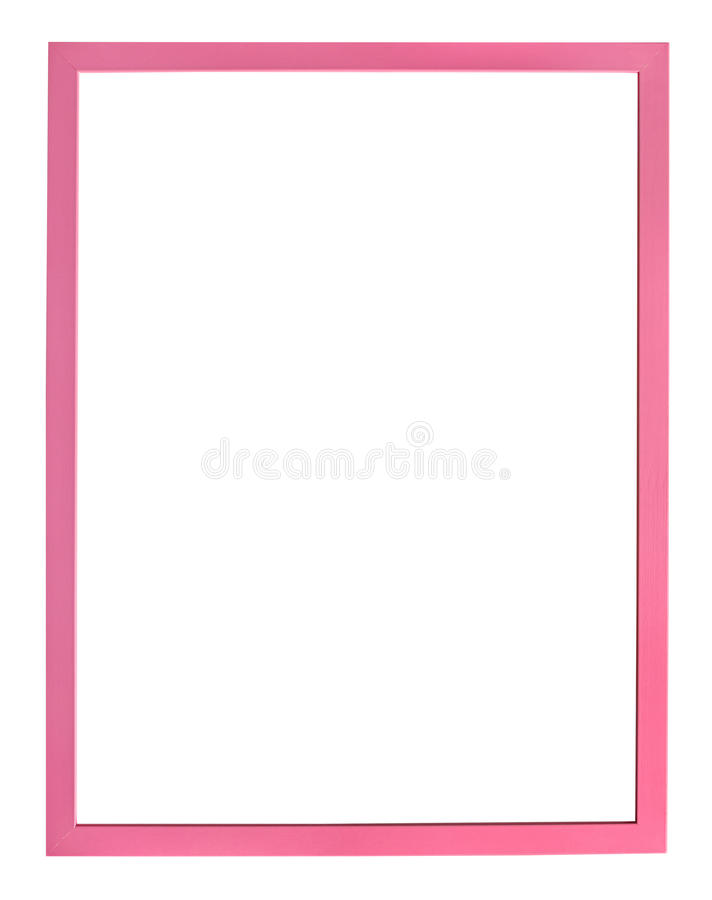 Vertical modern pink picture frame royalty free stock photography