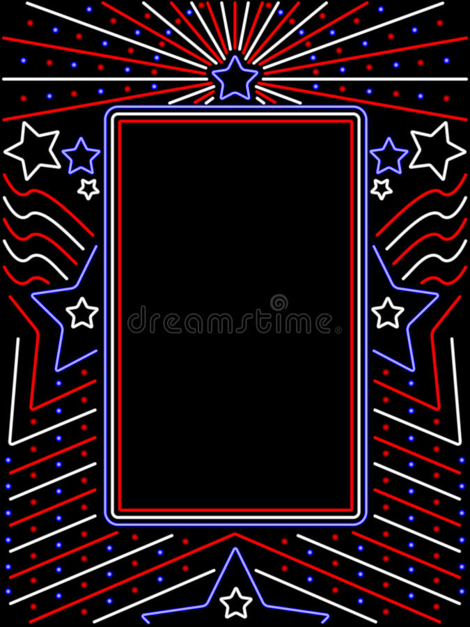 Download Vertical Neon Patriotic Sign Stock Vector - Illustration: 14607647