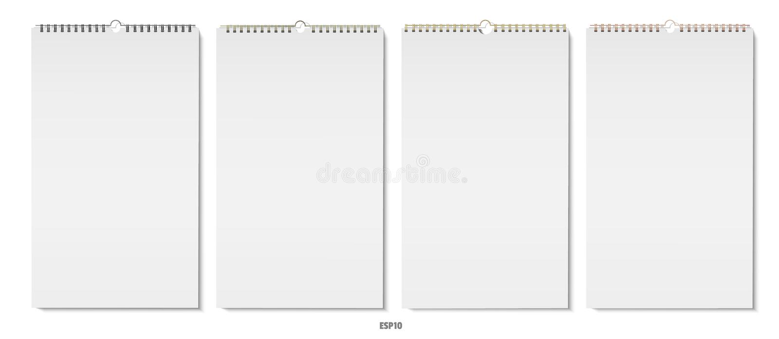 Vertical note pads vector royalty free illustration