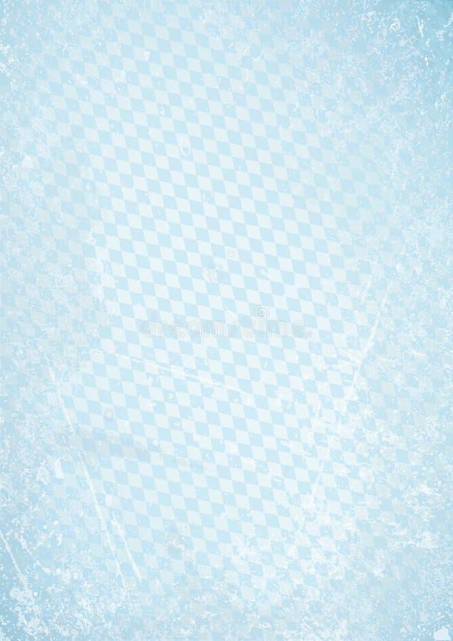 Vertical Oktoberfest Retro Paper Background Diagonal Diamond Pattern Blue royalty free illustration