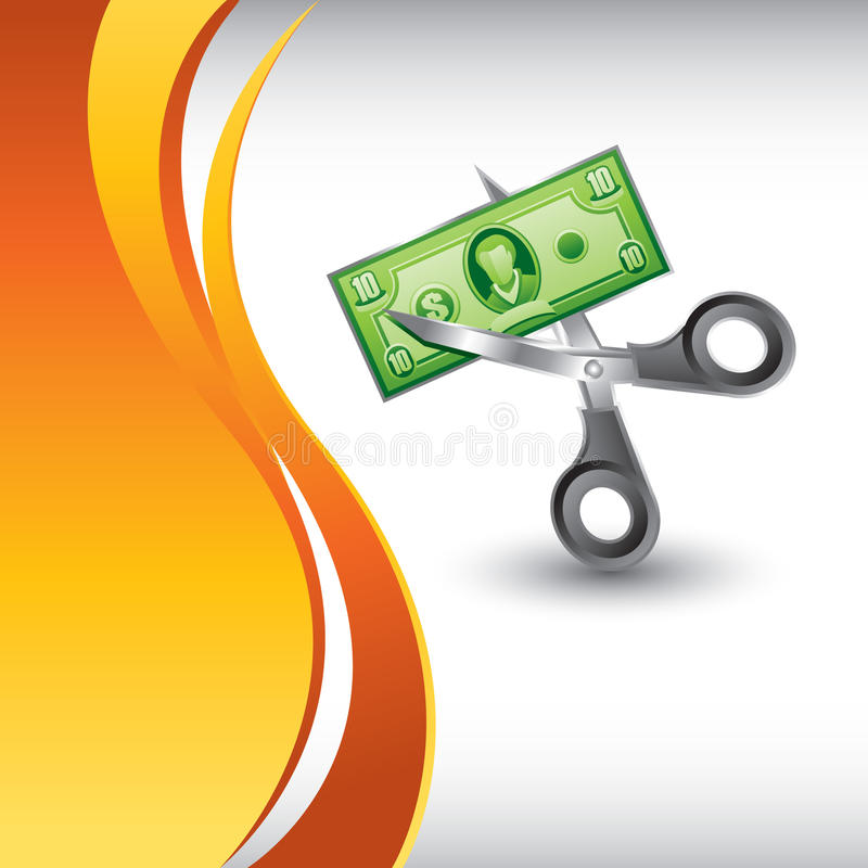 Download Vertical Orange Wave Backdrop With Price Drop Stock Vector - Image: 12344814