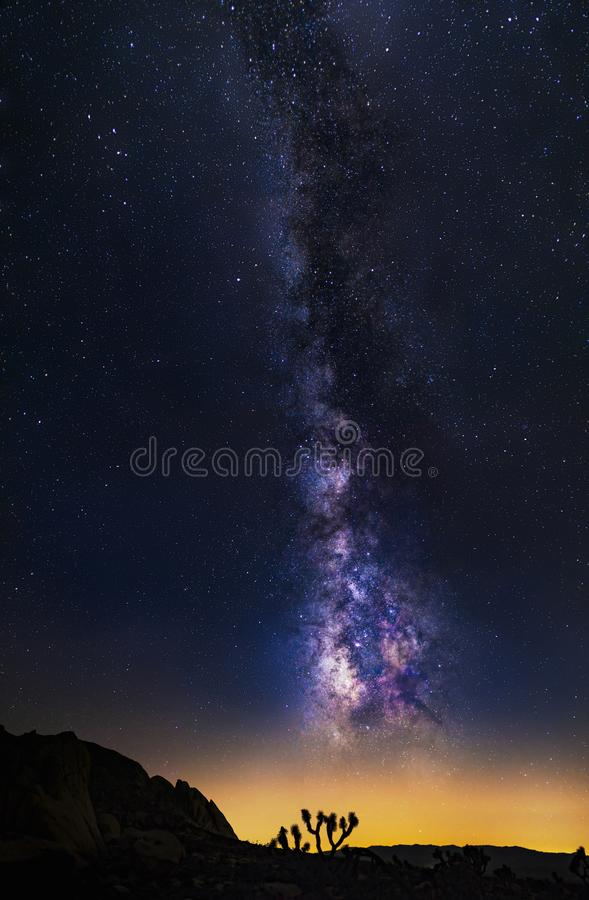 Vertical Orientation of the Milky Way Galaxy royalty free stock image