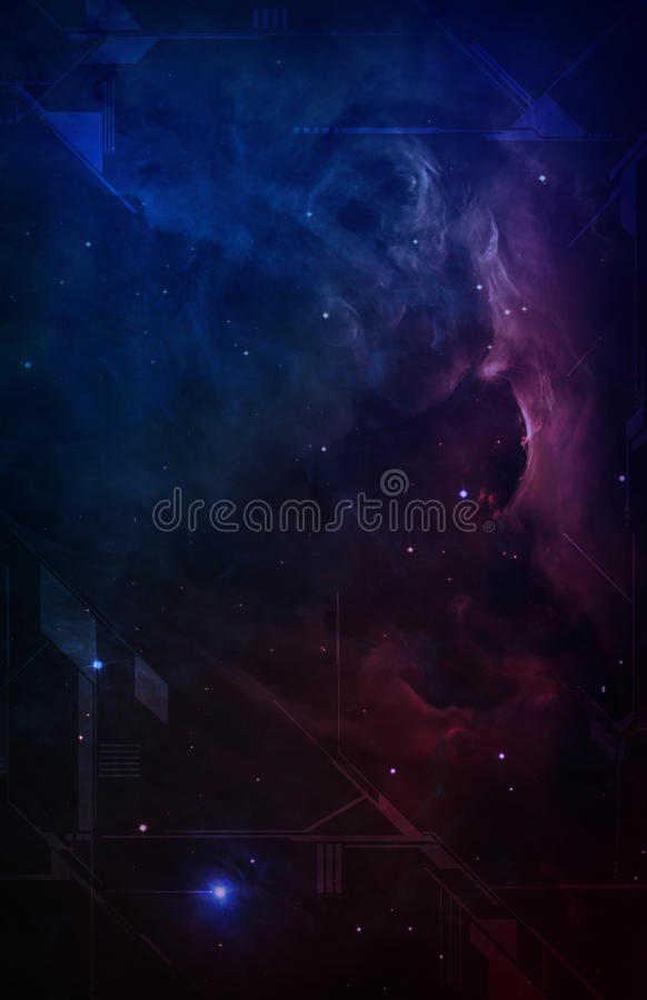 Download Vertical Outer Space Nebula Blueprint Stock Illustration - Image: 22758649