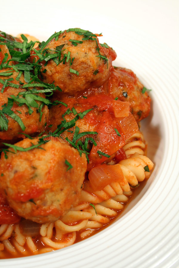 Download Vertical Of Pasta And Chicken Meat Balls Royalty Free Stock Photo - Image: 1477435