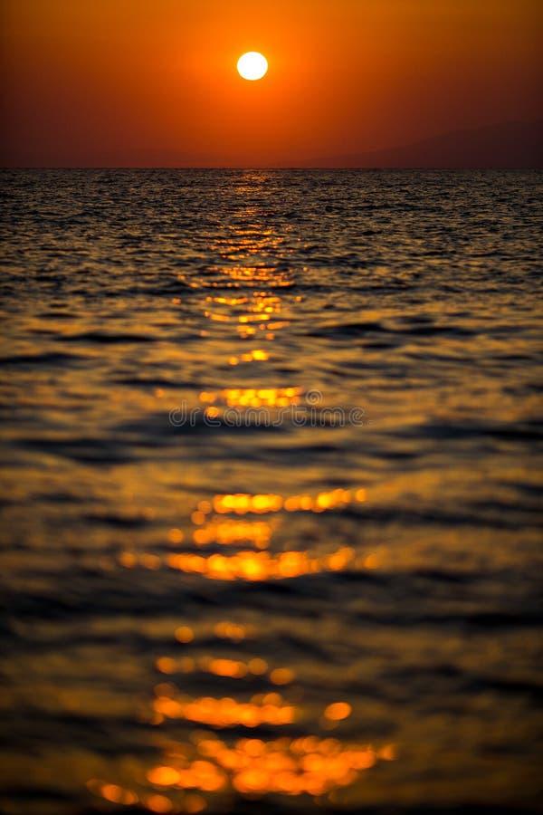 Vertical photo of a beautiful sunset. stock photo