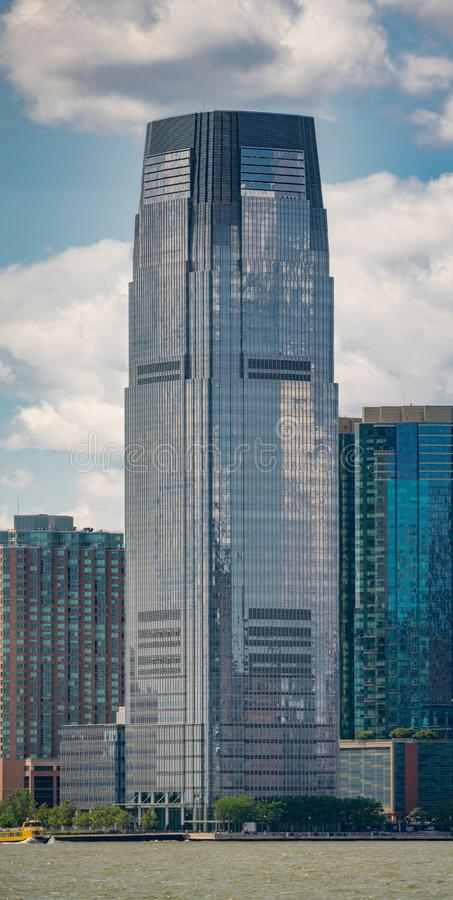 Vertical photo Goldman Sachs Building New Jersey royalty free stock photo