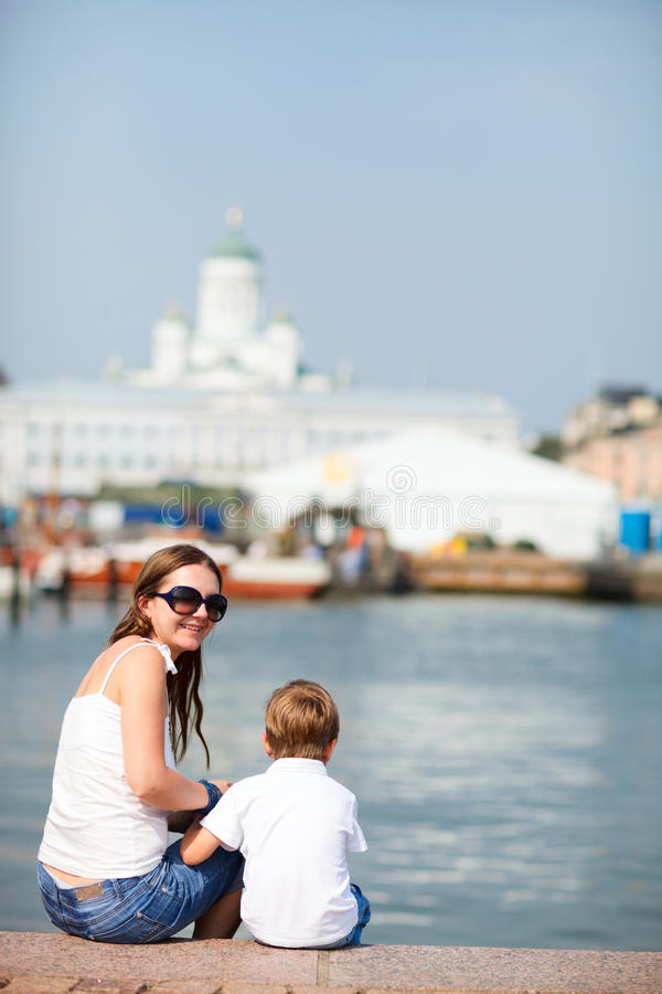 Free Vertical Photo Of Mother And Son In City Stock Image - 15699171
