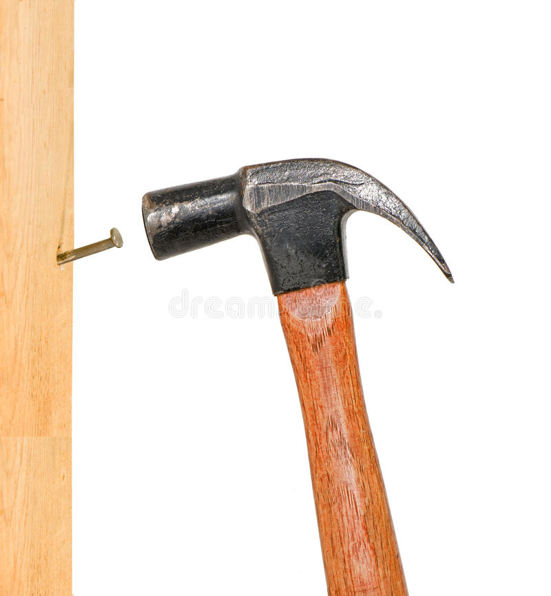 Download Vertical Pounding Nail stock photo. Image of pound, drive - 12825342
