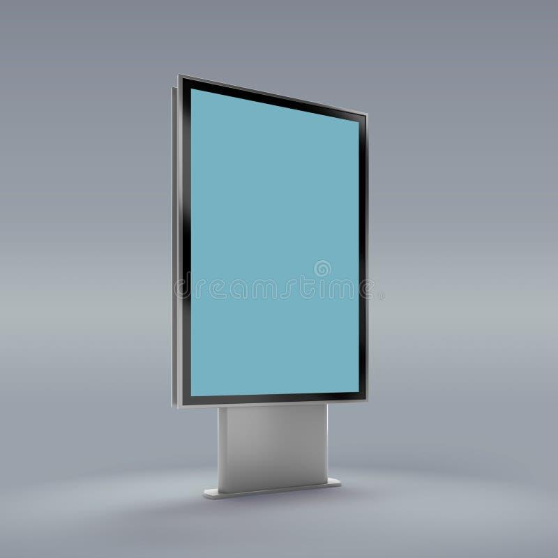 Vertical preto modelo girado do monitor ilustração royalty free