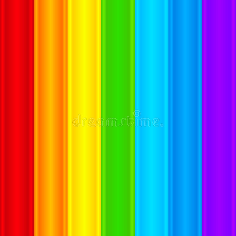 Vertical rainbow plastic stripes abstract vector vector illustration