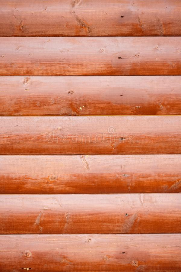 Vertical rama Brown ściana drewniane bele obraz stock