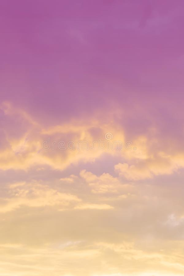 Vertical ratio size of sunset background. sky with soft and blur pastel colored clouds. gradient cloud on the beach resort. Nature. sunrise.  peaceful morning royalty free stock image
