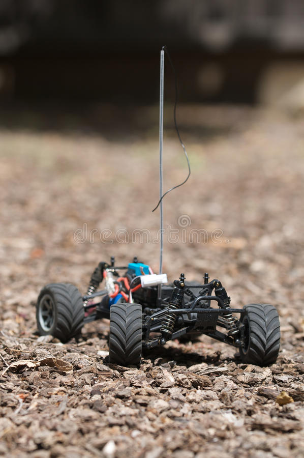 Vertical Of Remote Controlled Electric Truck With No Plastic Body Stock Photo