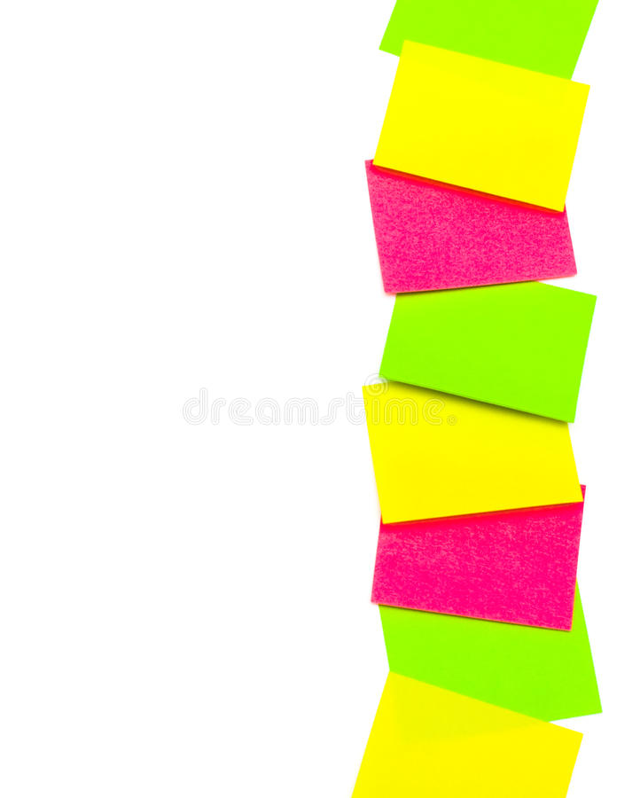 Free Vertical Row Of Paper Stickers Royalty Free Stock Photos - 24299538
