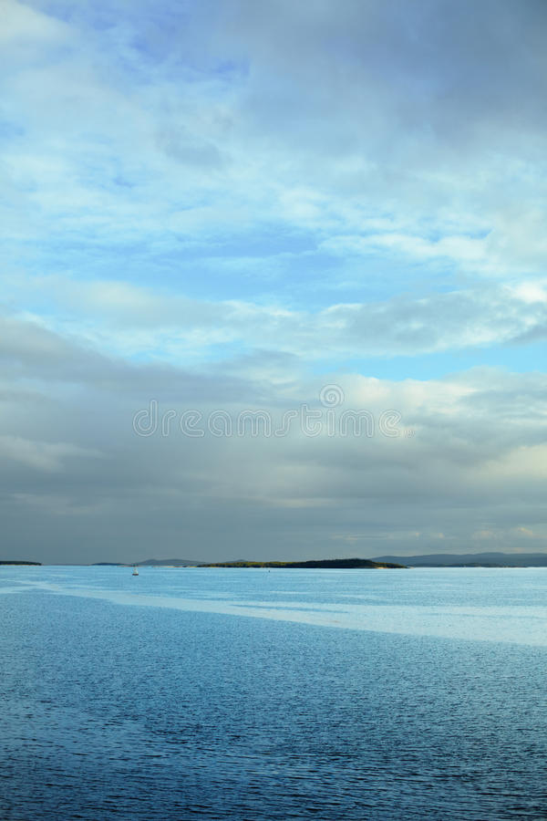 Download Vertical Sea Landscape With Horizon In Third Stock Photo - Image: 17054176