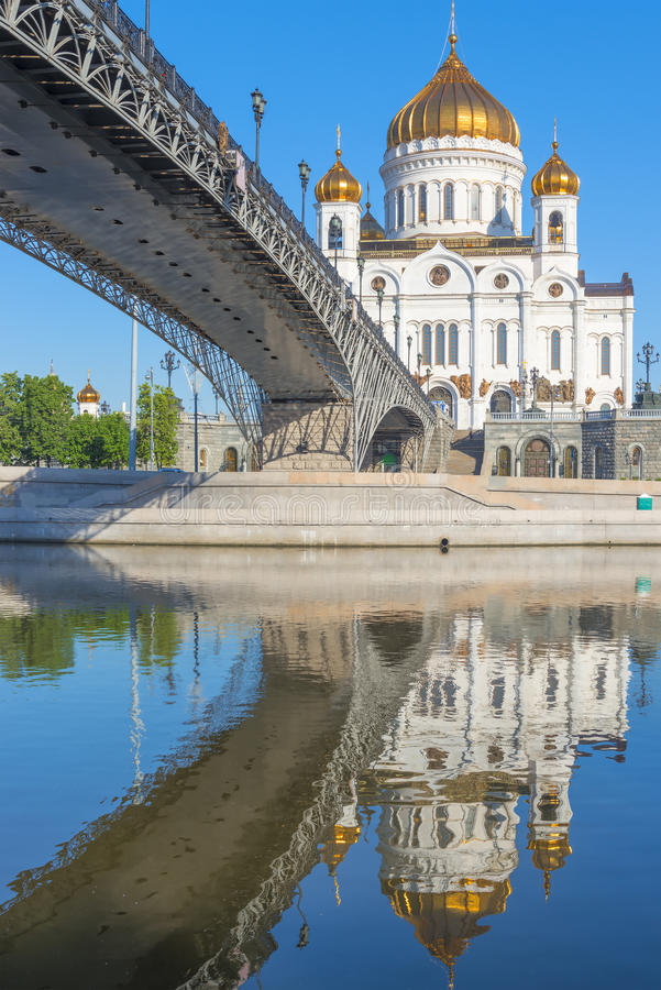Vertical shot of Christ the Savior. And the bridge royalty free stock images
