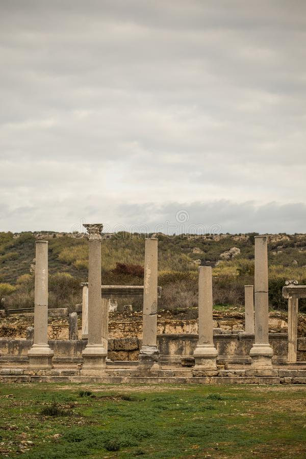 Ruins of ancient perge royalty free stock photos