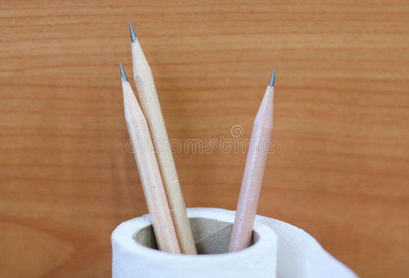 Vertical Shot Of Group Of Pencils. / Sharp Pencils/ Time For School/ background royalty free stock images