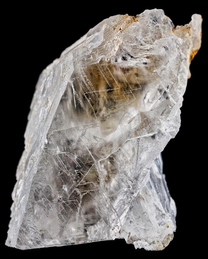 Free Vertical Shot Of The Selenite Mineral Isolated On Black Background Royalty Free Stock Images - 205360009