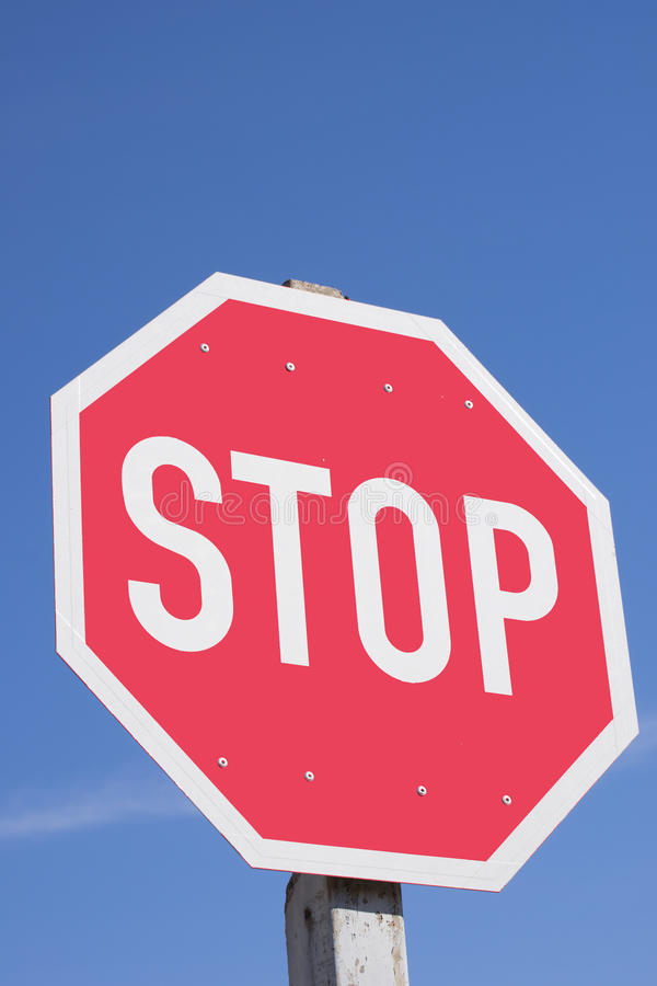 Vertical Shot of Stop Sign stock photography