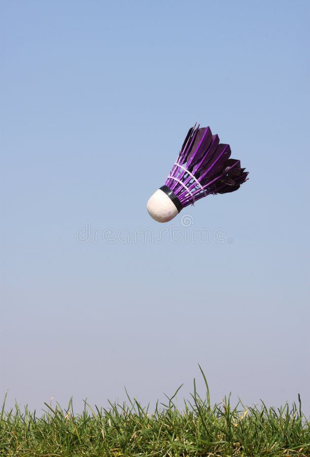 Download Vertical Shuttlecock In  Action Stock Image - Image: 8954721