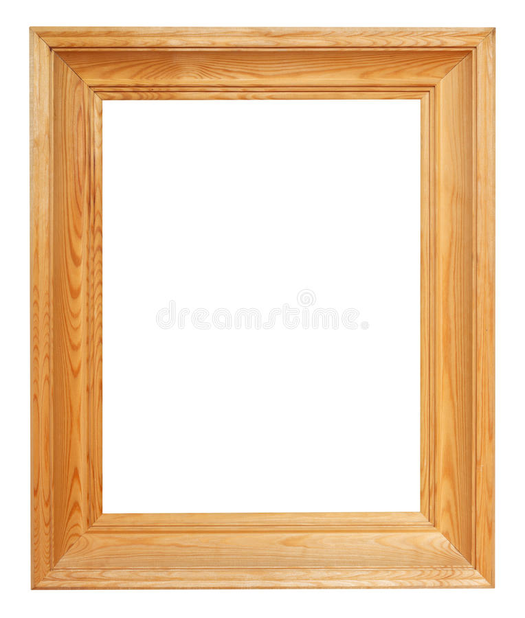 Vertical simple wide brown wooden picture frame royalty free stock images