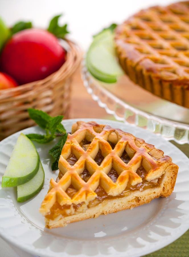Free Vertical Slice Of Apple Pie Tart Cake Dessert Sweet Treat Stock Photos - 74219693