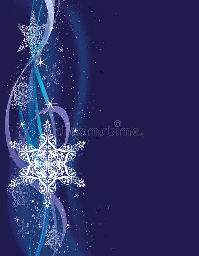 Vertical Snowflake Background Royalty Free Stock Image