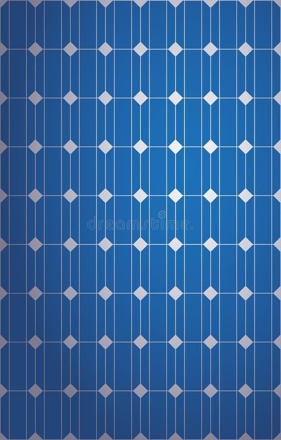 Vertical Solar Panel Pattern Stock Vector Illustration