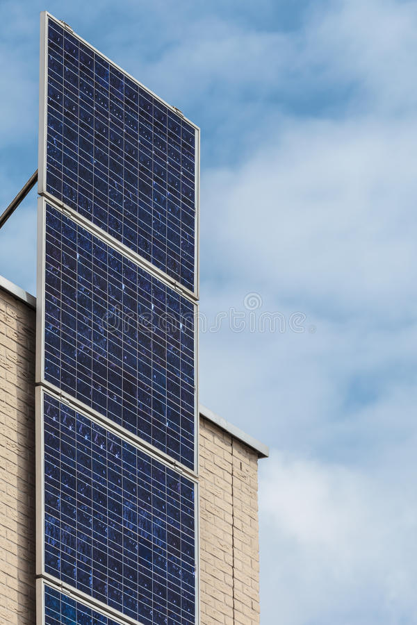 Download Vertical Solar Panels On A Newly Build House Stock Photo - Image: 26268854