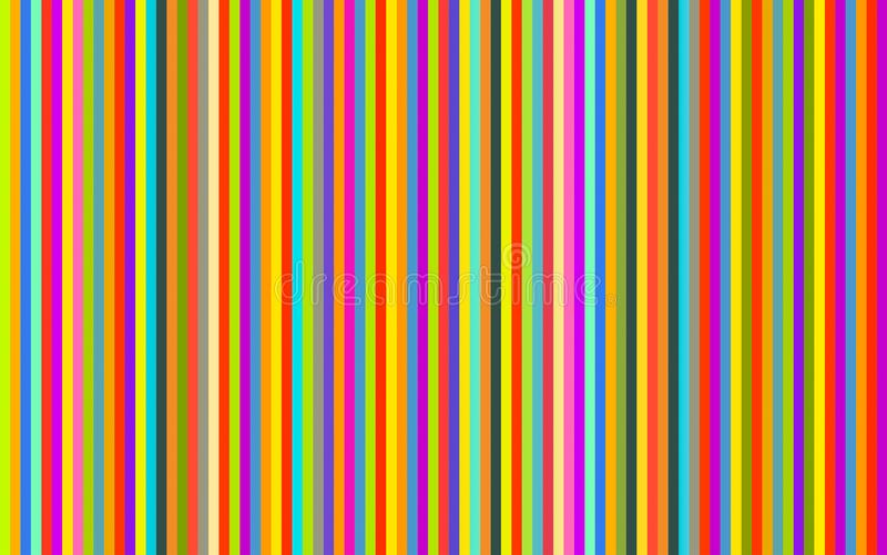 Vertical stripes colored red purple yellow green blue blue violet beige bright line background royalty free illustration