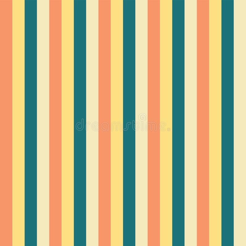 Free Vertical Stripes Yellow Teal Blue Peach Pattern. Vertical Striped Seamless Vector Background. Great For Easter, Spring, Fabric, Royalty Free Stock Photos - 133974378