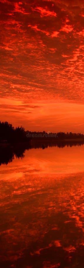 Vertical Sunrise Banner royalty free stock image