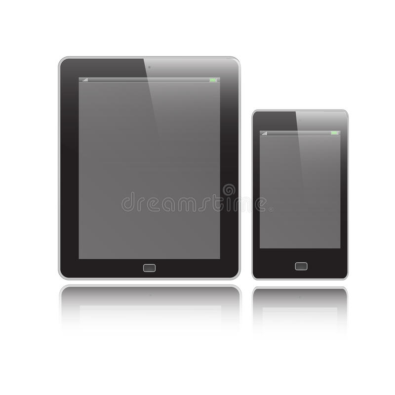 Free Vertical Tablet And Mobile Royalty Free Stock Photography - 29843527