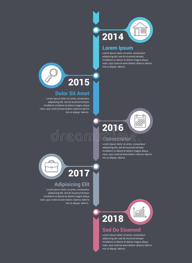 Free Vertical Timeline Infographics Stock Image - 103906591