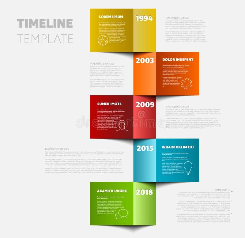 Vertical timeline template vector illustration