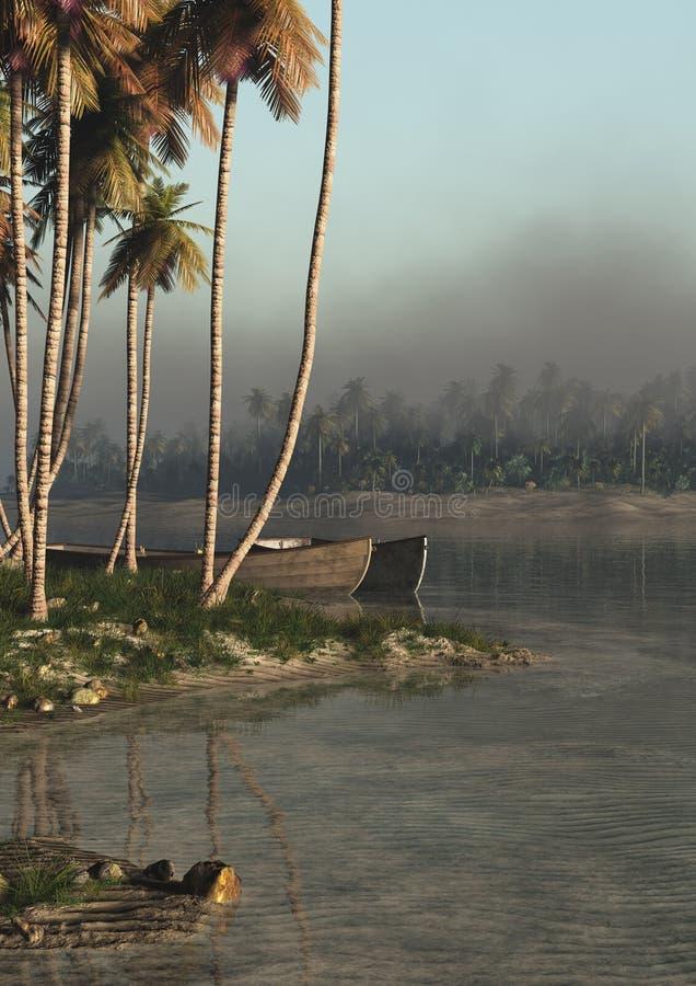 Vertical tropical de la orilla libre illustration